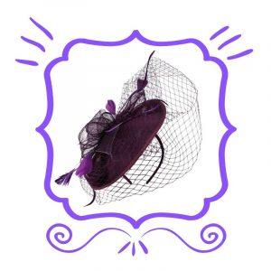Purple Fascinators
