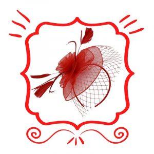 Red Fascinators
